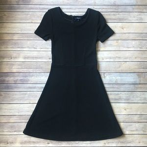 Madewell Black Fit and Flare Dress